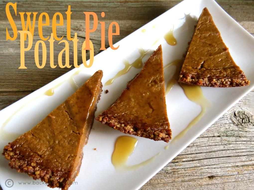 sweet potato pie with pecan crust.