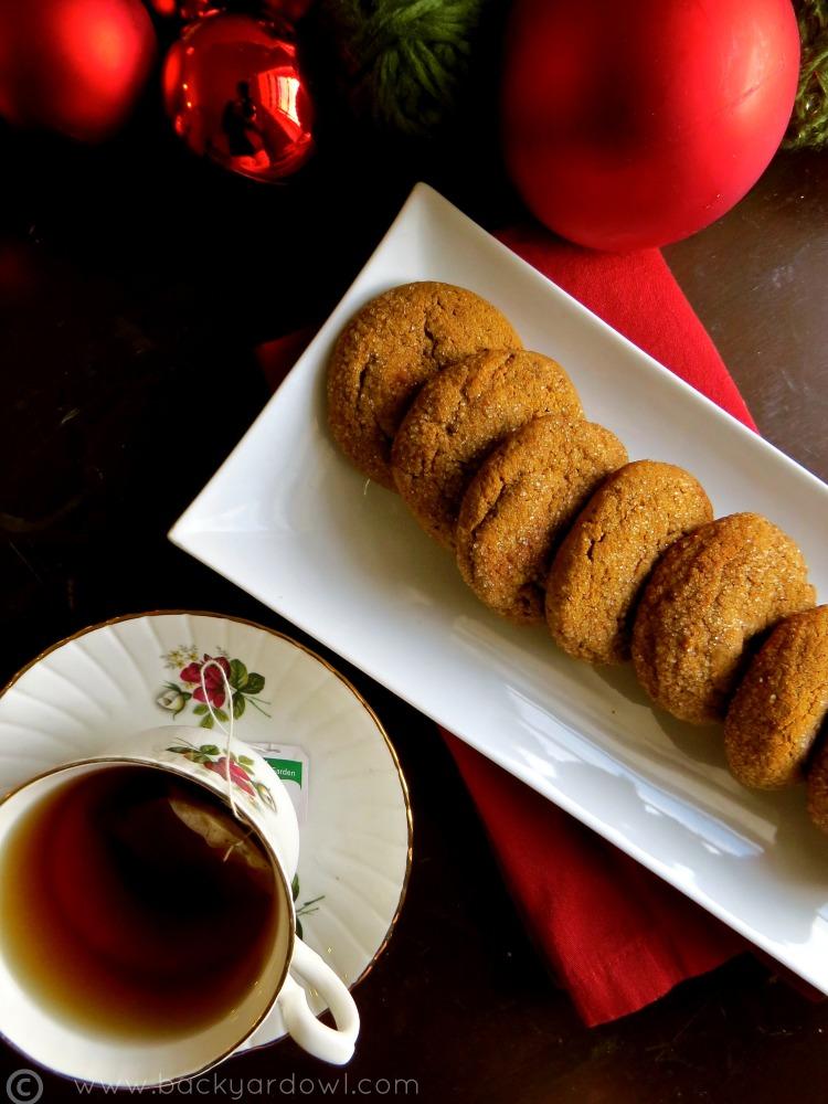 ginger molasses cookies - vegan & gluten free