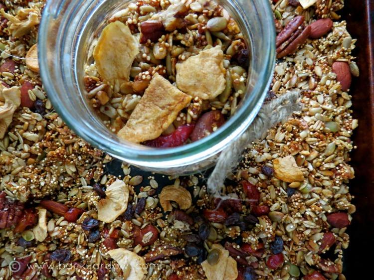 apple cider quinoa granola