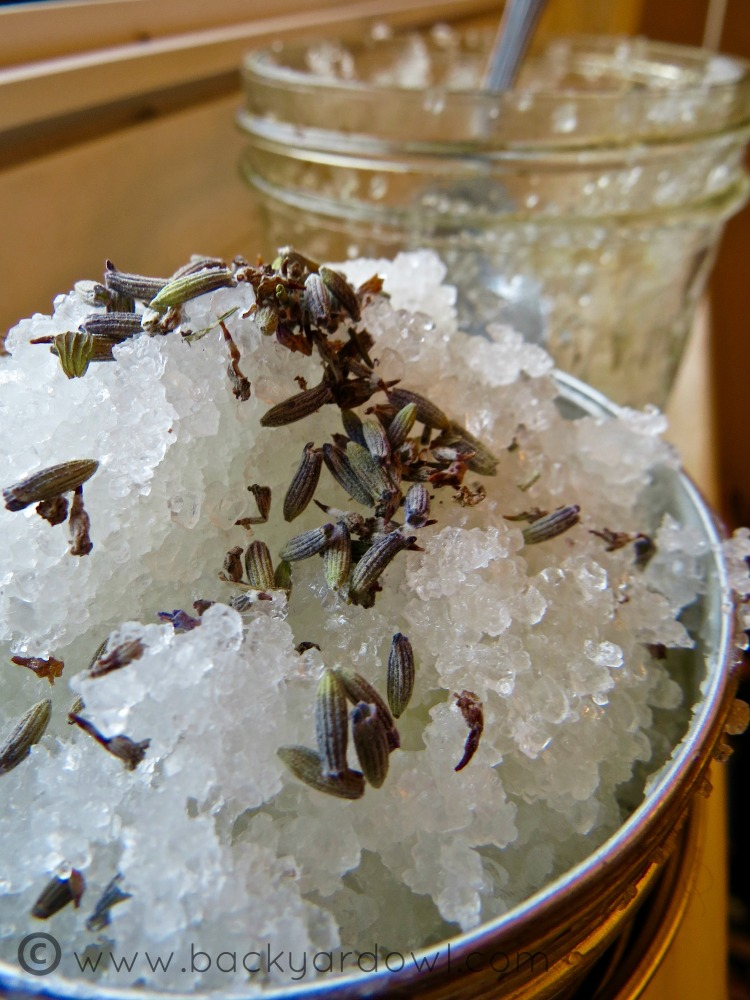 lavender and peppermint epsom salt scrub