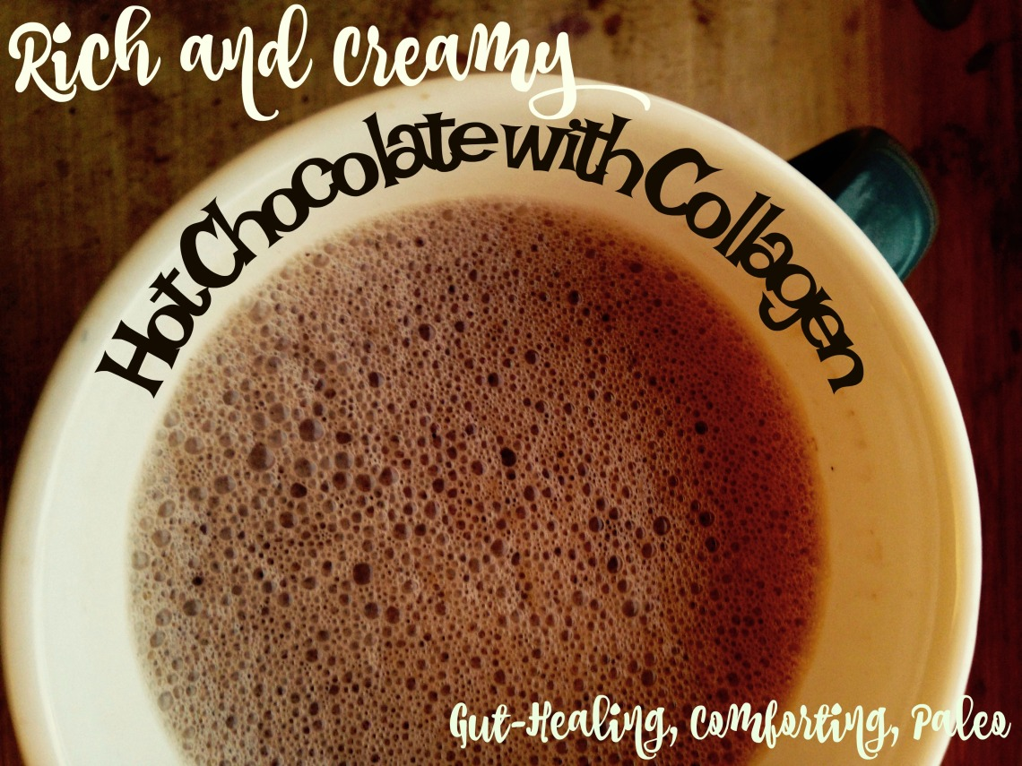 Rich and Creamy Collagen Hot Chocolate with Raw Cocoa - Gut Healing, Comforting, Paleo
