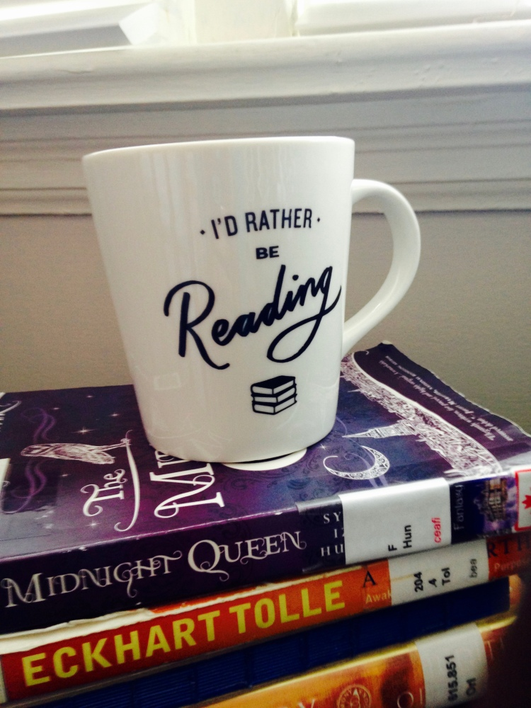 I'd rather be reading mug with stack of good books, London, Ontario, Holistic Nutrition