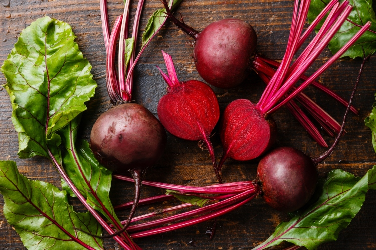 Red Beetroot with green leaves - 6 ways to love your liver